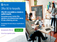 Microsoft offers free versions of Office 365 to nonprofits