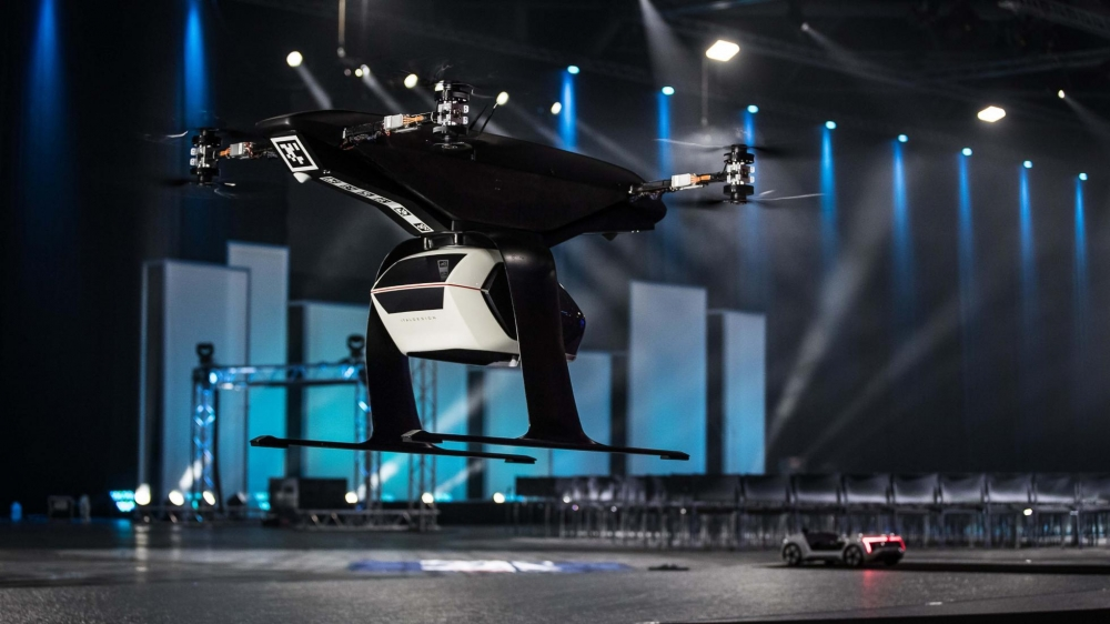 Audi self-driving flying taxi car drone
